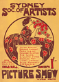 Society of Artists, Sydney poster 1907.png