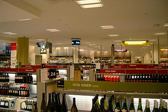 Alcohol monopoly - Inside of a branch of the Swedish alcohol monopoly, Systembolaget, in Södertälje