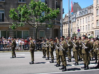 Luxembourg Army - Luxembourgish soldiers during National Day.