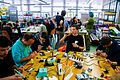 Solder workshop at FIXME Hackerspace, Renens, Lausanne (2015-05-23 06.26.01 by Mitch Altman).jpg