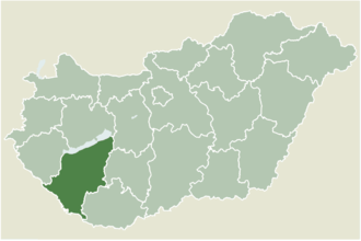 Fonyód - Location of Somogy county in Hungary