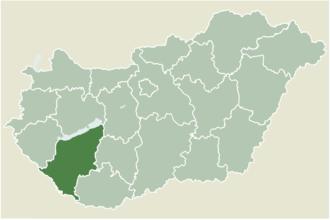 Kereki - Location of Somogy county in Hungary