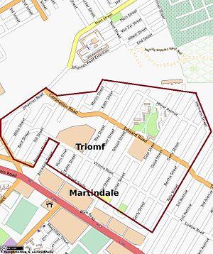 Sophiatown - Image: Sophiatown Street Map