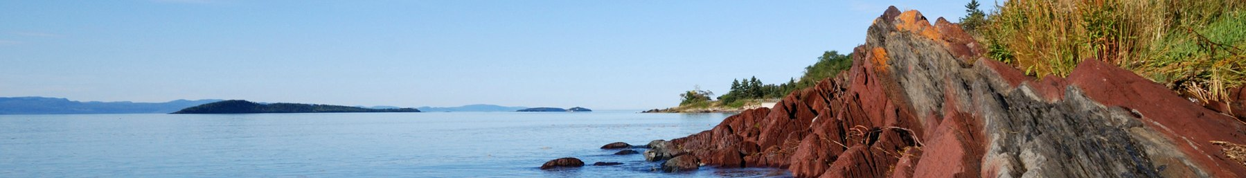 Waterside of Saint Lawrence River near Kamouraska in Southeastern Quebec