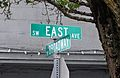 Southwest East Avenue sign - Beaverton Oregon.jpg