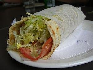 Souvlaki - Gyros sandwich