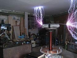 Spark from 4KVA Tesla Coil.JPG