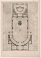 Speculum Romanae Magnificentiae- Ground plan of a building with the arms of Pope Julius III engraved at the center MET DP870352.jpg