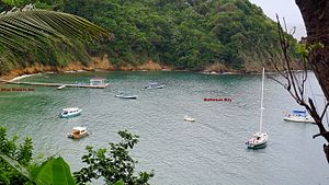 Speyside, Trinidad and Tobago - Blue Waters Inn - Resort located on Batteaux bay near  the town of Speyside, NE coast of Tobago, West Indies.