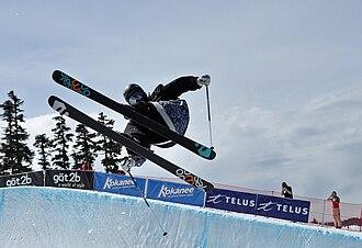 Half-pipe skiing - Half-pipe skiing at the World Skiing Invitational