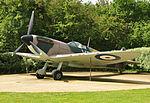 Spitfire replica at Battle of Britain memorial.jpg