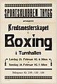 Sportsklubben Trygg arrangerer Kredsmesterskapet i Boxing i Turnhallen Lørdag 23. Februar Kl. 8 Aften, Søndag 24. Februar Kl. 7 (14671990809).jpg