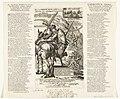 Spotprent op de keurvorst van Beieren, 1706 De Vervelde Bander-Heer van Beyeren, op stelten, reidende als Capitein van de Ban en Arrier-Ban, van Luidewyk de benaaude Angustus L'Electeur Banni, Ou le , RP-P-OB-83.047.jpg
