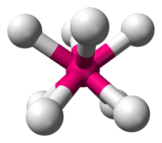 Square antiprismatic molecular geometry - Image: Square antiprismatic 3D balls