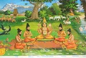 Vaikhanasas - Rishi Vikhanasa with his four disciples Atri, Bhrigu, Marichi and Kashyap.