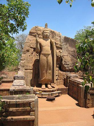 Religious art - Buddha statue in Sri Lanka.