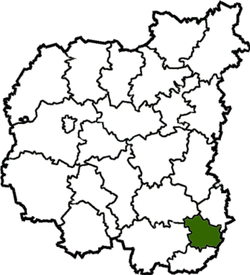 Location of Sribnes rajons