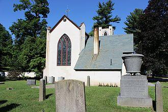 St. James Episcopal Church (Hyde Park, New York) - East facing, from the churchyard