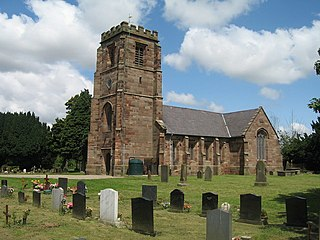 St Lawrences Church, Stoak Church in Cheshire, England
