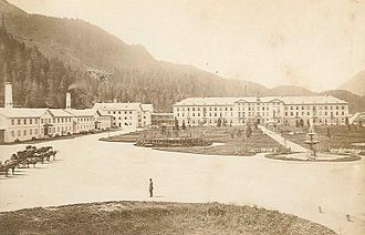 St. Moritz - Baths in St. Moritz, ca. 1881