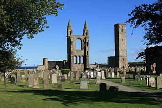 Archdiocese of St Andrews - Modern ruins of St Andrews Cathedral, the seat of the diocese