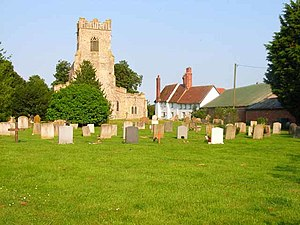 Groton, Suffolk - Image: St Bartholomew's Church, Groton geograph.org.uk 185487