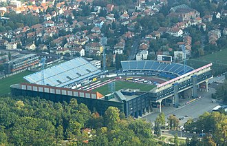 Stadion Maksimir -  Maksimir before 2011 facelifting.