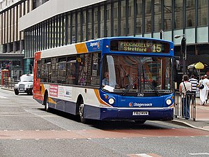 Stagecoach Manchester - Alexander ALX300 bodied MAN 18.220 on route 15 in July 2008