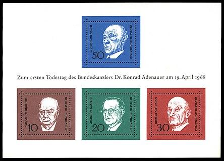Briefmarken Jahrgang 1968 Der Deutschen Bundespost Wikipedia