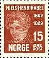 Stamps of Norway, 1929-Niels Henrik Abel2.jpg