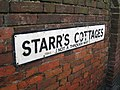 Starr's Cottages Street Sign - geograph.org.uk - 1778620.jpg