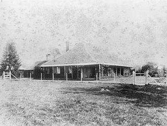 Esk, Queensland - View across the grass to Cressbrook Homestead, circa 1887
