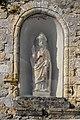 Statue de Saint-Pierre (Clocher de l'ancienne église Saint-Pierre de Longues-sur-Mer. Fontenailles).jpg
