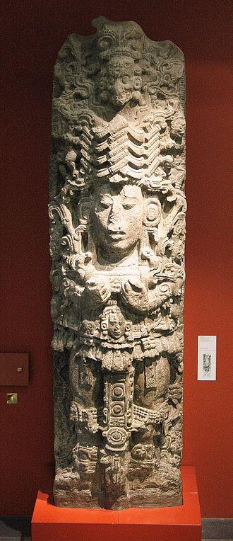 Ancient Maya art - Copan stela A, Maudslay cast