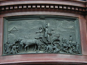 Monument to Nicholas I - Nikolay I pacifies cholera riot. Sculptor Ramazanov