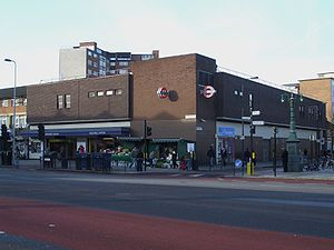 Stockwell tube station - The station entrance