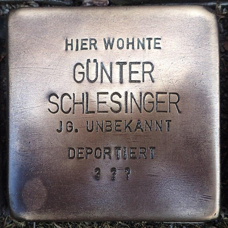 Stolperstein für Günther Schlesinger