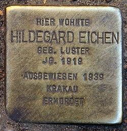 Photo of Hildegard Eichen brass plaque