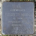 Stolperstein Elisabeth Mayer (Roßbrunnenstraße 15 Butzbach).jpg
