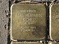 Stolperstein Karl Hermann Sichel, 1, Malsburgstraße 12, Vorderer Westen, Kassel.jpg