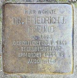 Photo of Friedrich Julius Freund brass plaque