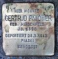 Stolperstein Stierstr 16 (Fried) Gertrud Pniower.jpg
