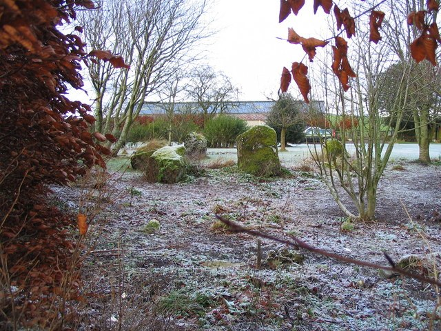 Stone circle at Kirkurd - geograph.org.uk - 656034