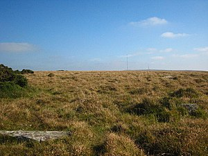 Craddock Moor stone circle - Image: Stone circle on Craddock Moor geograph.org.uk 1511039