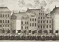 Stora Nygatan 14-20 Kopparstick av Dahlberg från Karl X Gustavs begravning i Stockholm 1660.jpg