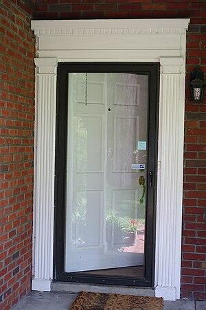 Storm door - residential aluminum and glass storm door, USA