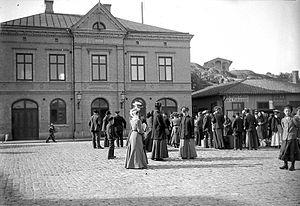 Strömstad - Strömstad harbour in 1907.