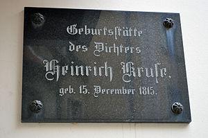Stralsund, Fährstraße 25, Gedenktafel Heinrich Kruse (2012-03-11), by Klugschnacker in Wikipedia.jpg
