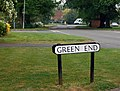 Street sign, Green End - geograph.org.uk - 1305025.jpg