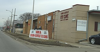 Labor unrest - Picketing workers, Dearborn, Michigan